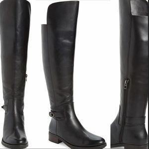 Coach Black Leather Over The Knee Boots Size 7.5